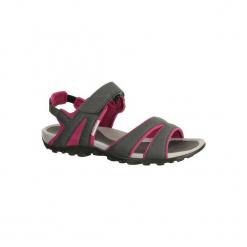 Sandały turystyczne Arpenaz 50 damskie. Czerwone sandały damskie QUECHUA, z gumy. Za 54.99 zł.