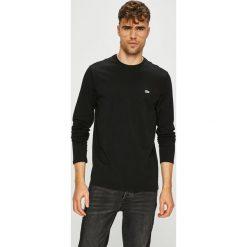 Lacoste - Longsleeve. Czarne bluzki z długim rękawem męskie Lacoste, z bawełny, z okrągłym kołnierzem. W wyprzedaży za 199.90 zł.