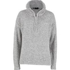 Sweter z puszystej przędzy bonprix antracytowy melanż. Szare swetry damskie bonprix. Za 74.99 zł.