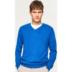 Sweter z dekoltem w serek - Niebieski. Swetry dla chłopców marki Pulp. W wyprzedaży za 59.99 zł.