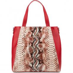 Torebka damska 85-4E-355-3. Czerwone torebki do ręki damskie Wittchen, w paski. Za 435.00 zł.