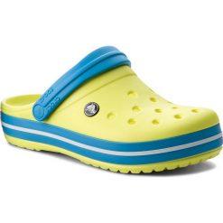 Klapki CROCS - Crocband 11016 Tennis Ball Green/Ocean. Klapki damskie Crocs, z tworzywa sztucznego. W wyprzedaży za 159.00 zł.