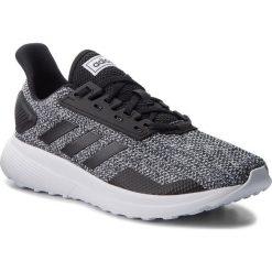 Buty adidas - Duramo 9 BB6917 Cblack/Cblack/Ftwwht. Szare buty sportowe męskie Adidas, z materiału. W wyprzedaży za 209.00 zł.