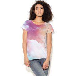 Colour Pleasure Koszulka CP-034  57 różowo-błękitno-biała  r. XXXL-XXXXL. Bluzki damskie Colour Pleasure. Za 70.35 zł.