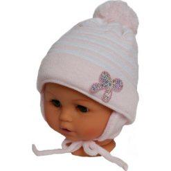Czapka niemowlęca z szalikiem CZ+S 009B różowa. Czapki dla dzieci marki Reserved. Za 36.70 zł.