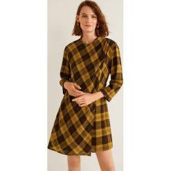Mango - Sukienka Montain. Brązowe sukienki damskie Mango, z tkaniny, casualowe, z okrągłym kołnierzem. Za 199.90 zł.