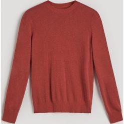 Gładki sweter z domieszką kaszmiru - Bordowy. Czerwone swetry damskie Reserved, z kaszmiru. Za 139.99 zł.