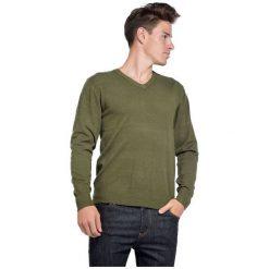 William De Faye Sweter Męski M Zielony. Zielone swetry przez głowę męskie William de Faye, z kaszmiru, dekolt w kształcie v. Za 259.00 zł.