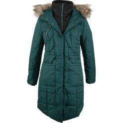 Płaszcz pikowany w optyce 2 w 1 bonprix niebieskozielony. Płaszcze damskie marki FOUGANZA. Za 269.99 zł.
