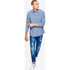 Koszula w drobną kratkę BASIC - Niebieski. Koszule męskie marki Giacomo Conti. W wyprzedaży za 39.99 zł.