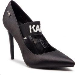 Szpilki KARL LAGERFELD - KL30040 Black Satin Textile. Czarne szpilki damskie KARL LAGERFELD, z materiału. Za 629.00 zł.