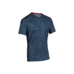 Koszulka do biegania krótki rękaw RUN DRY+ męska. Niebieskie koszulki sportowe męskie KALENJI, z elastanu, z krótkim rękawem. Za 39.99 zł.