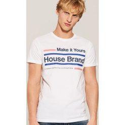 T-shirt Biały. Białe t-shirty męskie House. Za 29.99 zł.
