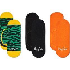 Happy Socks - Stopki Zebra (3-pak). Pomarańczowe skarpety damskie Happy Socks, z motywem zwierzęcym, z bawełny. Za 69.90 zł.