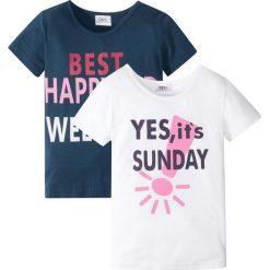 T-shirt (2 szt.) bonprix ciemnoniebiesko-biały. T-shirty damskie marki DOMYOS. Za 33.98 zł.