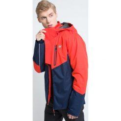 Kurtka narciarska męska KUMN009z - granatowy melanż. Niebieskie kurtki męskie 4f, melanż, z materiału. W wyprzedaży za 499.99 zł.