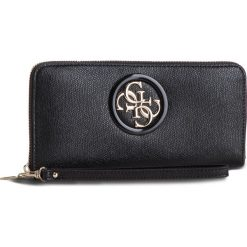 Duży Portfel Damski GUESS - SWVG71 86460 BLACK. Czarne portfele damskie Guess, z aplikacjami, ze skóry ekologicznej. Za 279.00 zł.