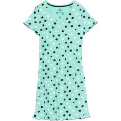 Koszula nocna bonprix niebieski mentolowy w kropki. Koszule nocne damskie marki MAKE ME BIO. Za 44.99 zł.