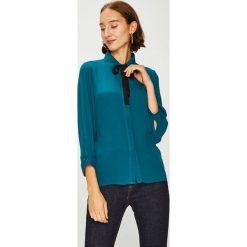 Answear - Koszula. Szare koszule damskie ANSWEAR, z tkaniny, casualowe, z klasycznym kołnierzykiem, z długim rękawem. W wyprzedaży za 99.90 zł.