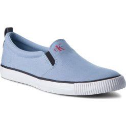 Tenisówki CALVIN KLEIN JEANS - Armand Denim S1488 Light Blue. Niebieskie trampki męskie Calvin Klein Jeans, z denimu. W wyprzedaży za 219.00 zł.