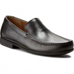 Mokasyny CLARKS - Claude Plain 261243127 Black leather. Czarne mokasyny męskie Clarks, z materiału. W wyprzedaży za 269.00 zł.