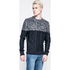Brave Soul - Sweter. Szare swetry przez głowę męskie Brave Soul, z dzianiny, z okrągłym kołnierzem. W wyprzedaży za 49.90 zł.