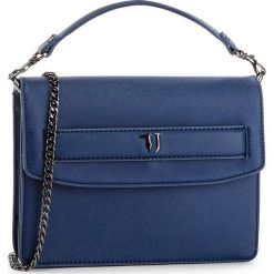 Torebka TRUSSARDI JEANS - Paprica Shoulder 75B00536 U290. Niebieskie torebki do ręki damskie TRUSSARDI JEANS, z jeansu. W wyprzedaży za 339.00 zł.