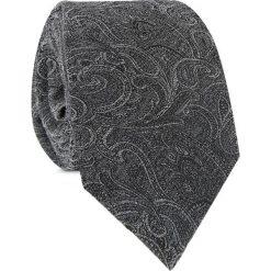Bawełniany Krawat KWSR010014. Szare krawaty i muchy Giacomo Conti, paisley, z bawełny. Za 169.00 zł.