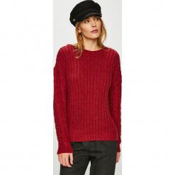 Trendyol - Sweter. Brązowe swetry damskie Trendyol, z dzianiny, z dekoltem w łódkę. Za 69.90 zł.