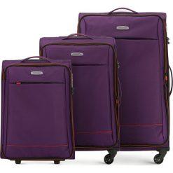 Zestaw walizek 56-3S-46S-44. Brązowe walizki damskie Wittchen. Za 685.41 zł.
