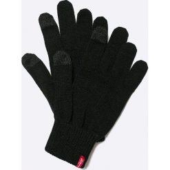 Levi's - Rękawiczki. Brązowe rękawiczki męskie Levi's, z bawełny. W wyprzedaży za 79.90 zł.