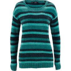 Sweter w paski bonprix głęboki zielony w paski. Zielone swetry damskie bonprix. Za 74.99 zł.