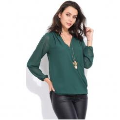 Charlotte Et Louis Bluzka Damska Dolores 42 Zielony. Zielone bluzki damskie Charlotte Et Louis, dekolt w kształcie v. Za 169.00 zł.