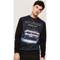 Bluza z nadrukiem - Czarny. Czarne bluzy męskie House, z nadrukiem. Za 69.99 zł.