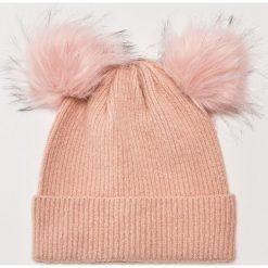 Czapka z puszystymi pomponami - Różowy. Czerwone czapki i kapelusze damskie House. Za 39.99 zł.