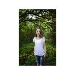 T-shirt bamboo/ z organicznej bawełny. Białe t-shirty damskie Siss, z bawełny. Za 150.00 zł.