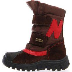 """Kozaki zimowe """"Himan"""" w kolorze brązowym. Buty zimowe chłopięce marki Geox. W wyprzedaży za 215.95 zł."""
