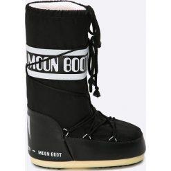 Moon Boot - Śniegowce. Czarne śniegowce i trapery damskie Moon Boot, z materiału. Za 359.90 zł.