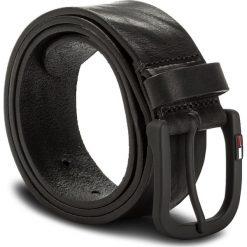 Pasek Męski TOMMY JEANS - Tjm Rubberized Buckle Belt 4.0 AM0AM03285 85 002. Czarne paski damskie Tommy Jeans, w paski, z jeansu. W wyprzedaży za 159.00 zł.