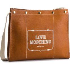 Torebka LOVE MOSCHINO - JC4072PP17LH0200 Cuoio. Brązowe listonoszki damskie Love Moschino, ze skóry ekologicznej. Za 959.00 zł.