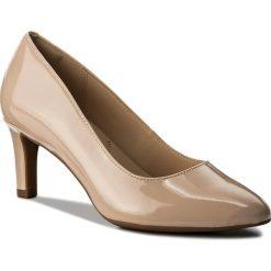 Półbuty CLARKS - Calla Rose 261339274 Cream. Brązowe półbuty damskie Clarks, z lakierowanej skóry, eleganckie. W wyprzedaży za 269.00 zł.
