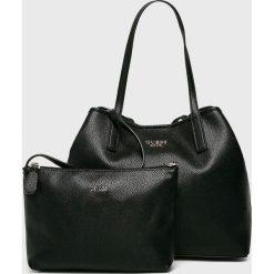 Guess Jeans - Torebka Vikky. Czarne torby na ramię damskie Guess Jeans, z aplikacjami, z jeansu. Za 589.90 zł.
