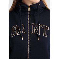 GANT GOLD FULL ZIP HOODIE Bluza rozpinana evening blue. Kardigany damskie GANT, z bawełny. W wyprzedaży za 566.10 zł.