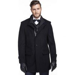 Płaszcz DONATO PSGS000027. Czarne płaszcze męskie Giacomo Conti, z kaszmiru. Za 999.00 zł.