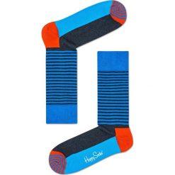 Happy Socks - Skarpety Half Sripe. Szare skarpety męskie Happy Socks, z bawełny. W wyprzedaży za 27.90 zł.