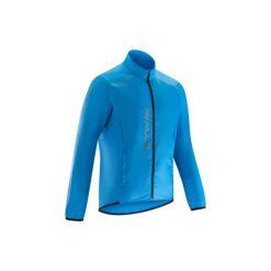 Kurtka przeciwdeszczowa na rower ROADCYCLING 100 męska. Niebieskie kurtki męskie B'TWIN. Za 69.99 zł.