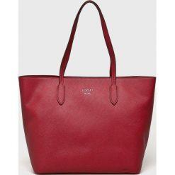 Joop! - Torebka. Czerwone torebki shopper damskie JOOP!, z materiału. W wyprzedaży za 539.90 zł.
