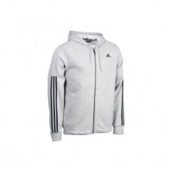 Bluza na zamek z kapturem Gym & Pilates męska. Szare bluzy męskie Adidas, z bawełny. Za 169.99 zł.