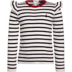 Polo Ralph Lauren STRIPE Sweter clubhouse cream/hunter navy. Swetry dla dziewczynek Polo Ralph Lauren, z bawełny, polo. Za 459.00 zł.