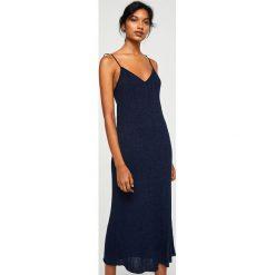 Mango - Sukienka Indian. Czarne sukienki damskie Mango, z bawełny, casualowe, na ramiączkach. W wyprzedaży za 89.90 zł.